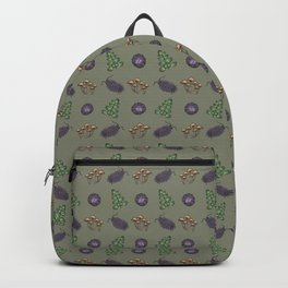 Creepy crawlies & wonders of nature - green version Backpack