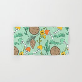 Minty Nature Lovers Hand & Bath Towel