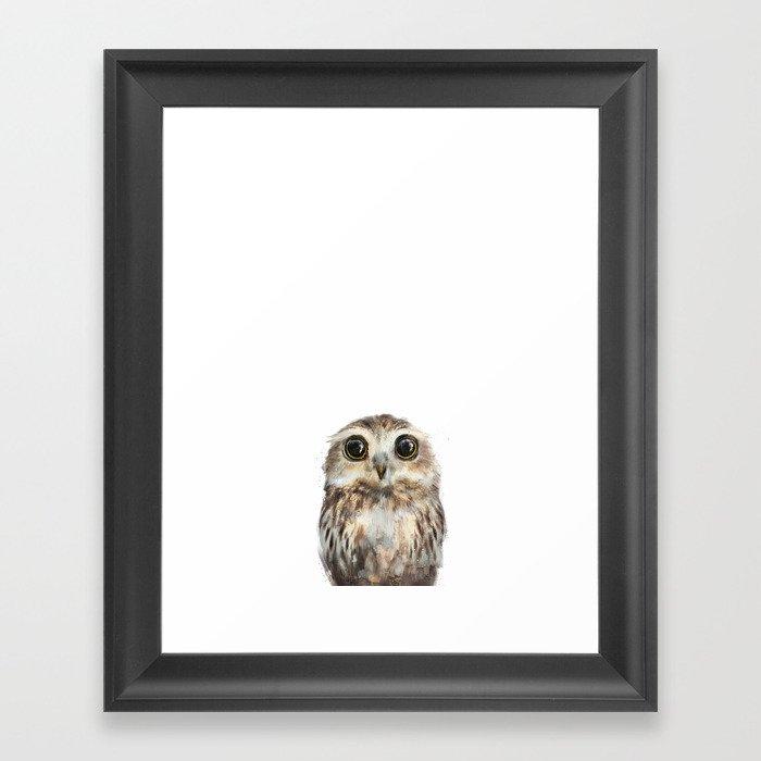 Little Owl Gerahmter Kunstdruck