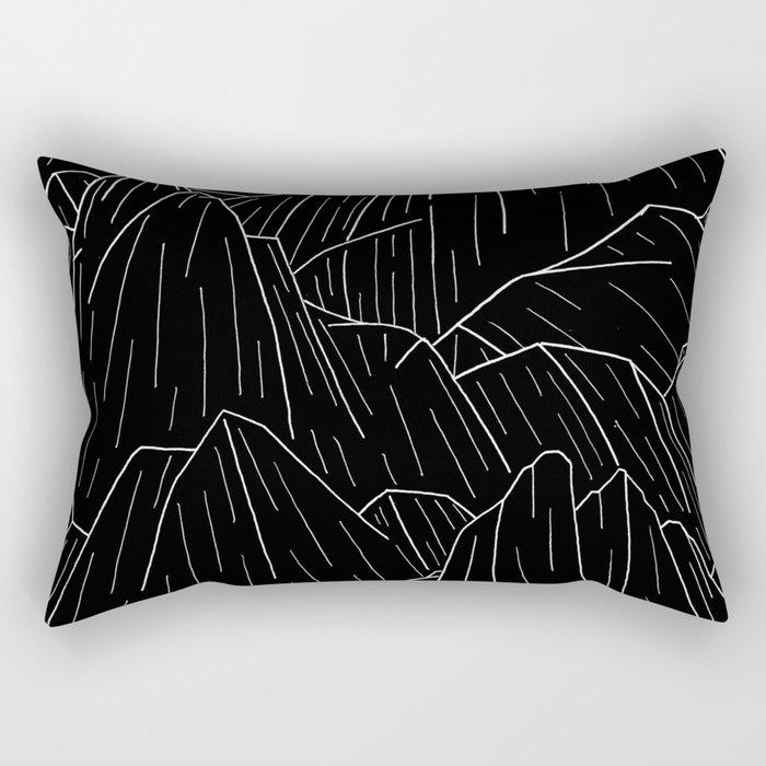 The dark cliffs Rectangular Pillow