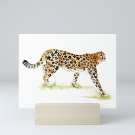 Flower Pattern Cheetah Mini Art Print