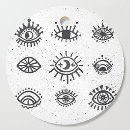 Evil Eyes - symbol of protection Cutting Board