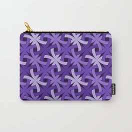 Purple Passion Knots Carry-All Pouch