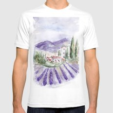 Provence Mens Fitted Tee MEDIUM White