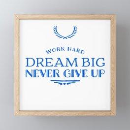 Follow Your Goals Framed Mini Art Print