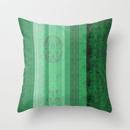 Boujee Boho Emerald Green Tapestry Print Throw Pillow