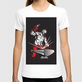 illustration of a blacksmith T-shirt