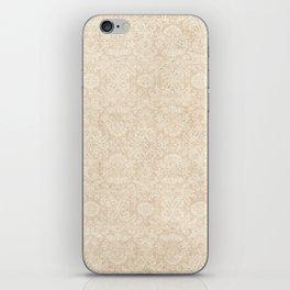 Shabby Champagne Damask Pattern iPhone Skin