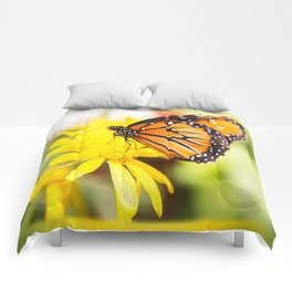 Happy Monarch Butterfly Comforters