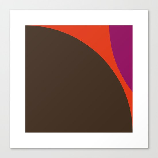 #422 Lava – Geometry Daily Canvas Print