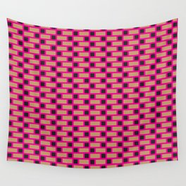 Brick (Pink, Brown, and Black) Wall Tapestry