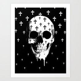 After Market, gothic skull Art Print