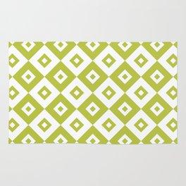 Diamond Check Pattern Chartreuse Rug