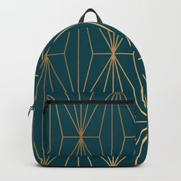 Hidden Sapphire Benjamin Moore Geometric Gold Pattern Backpack