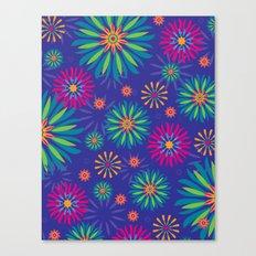Psychoflower Violet Canvas Print