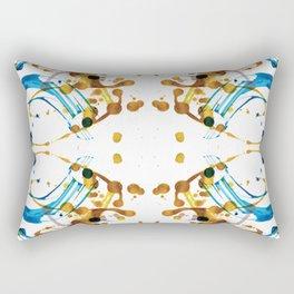 SYM 22 - mixed media symmetrical artwork Rectangular Pillow