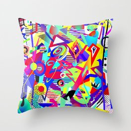 Bomb of Color Throw Pillow