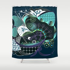 Winter tangle night Shower Curtain