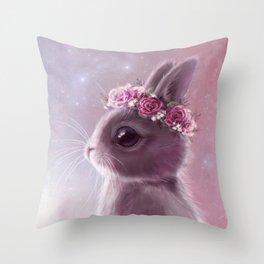 Fairy bunny Throw Pillow