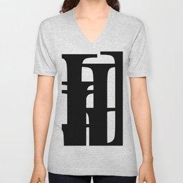 Hidden Letters. Baskerville I Unisex V-Neck