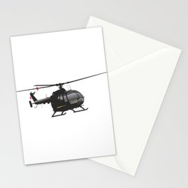 Black German Helicopter Bo.105 Stationery Cards