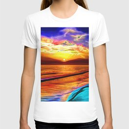 Sunset in Liverpool Bay T-shirt