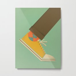 Argyle Sock Metal Print