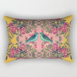 Love Birds II (yellow version) Rectangular Pillow