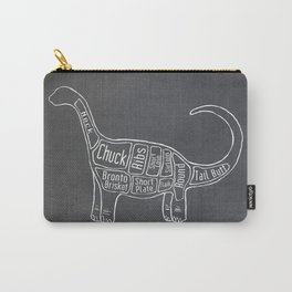 "Brontosaurus Dinosaurus (A.K.A Apatosaurus ""Big Cow"") Butcher Meat Diagram Carry-All Pouch"