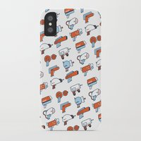 guns iPhone & iPod Cases featuring Laser Guns by Isra