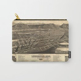 Bird's Eye View of Livingston, Montana (1883) Carry-All Pouch