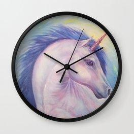 Purple Unicorn - Art by Lana Chromium Wall Clock