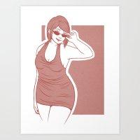 crowley Art Prints featuring Fem!Crowley by Abbi Laura