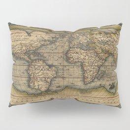 The world Ortelius Typus Orbis Terrarum 1564 Vintage World Pillow Sham