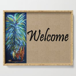 WELCOME with PINEAPPLE Serving Tray