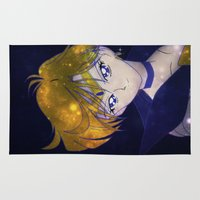 sailormoon Area & Throw Rugs featuring Sailor Uranus (Galaxy) by MivMusse