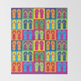 Pop Art Flip Flops Throw Blanket