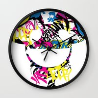 paramore Wall Clocks featuring Deadmau5 by Sitchko Igor