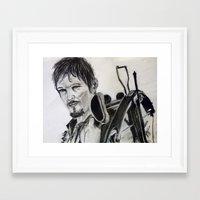 daryl dixon Framed Art Prints featuring Daryl Dixon by Brittany Ketcham