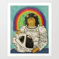 ripley Art Prints featuring Ripley by Derek Eads