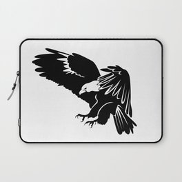Silhouette of flying eagle Laptop Sleeve