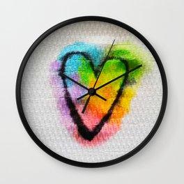 Heart on a Napkin Wall Clock