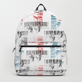 A piano pattern in black/red/blue Backpack