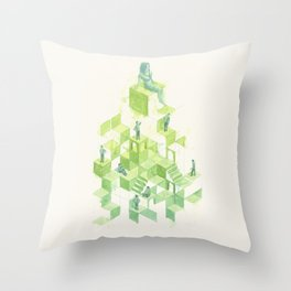 La domesticación Throw Pillow