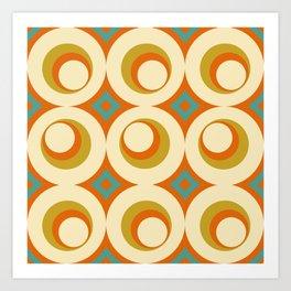 Mid-Century Modern Orange Art Print