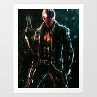red hood Art Prints featuring Red Hood by Lenin Lavina