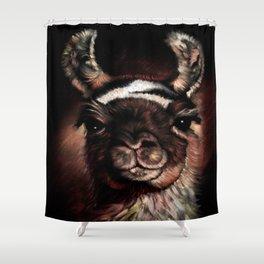 llama Cusco Peru Shower Curtain