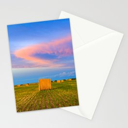 Hay Bales Sunset Stationery Cards