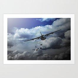 C130 Hercules - Supply Drop Art Print