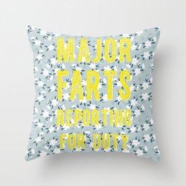Major Farts Throw Pillow